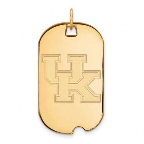 Kentucky Wildcats Sterling Silver Gold Plated Large Dog Tag