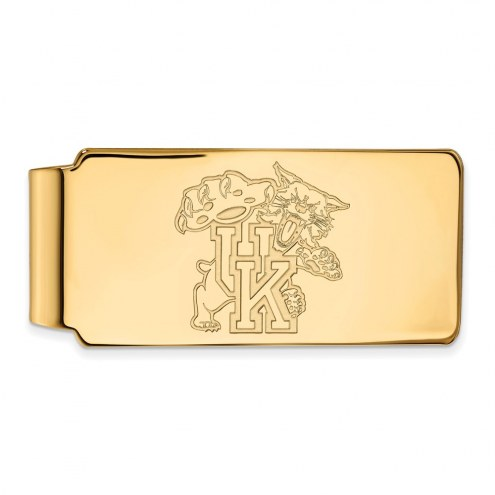 Kentucky Wildcats Sterling Silver Gold Plated Money Clip