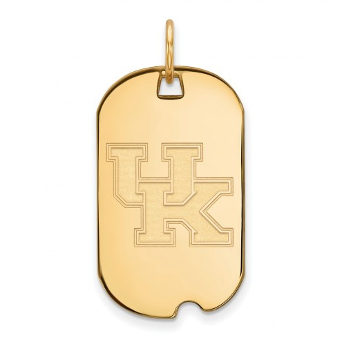 Kentucky Wildcats Sterling Silver Gold Plated Small Dog Tag