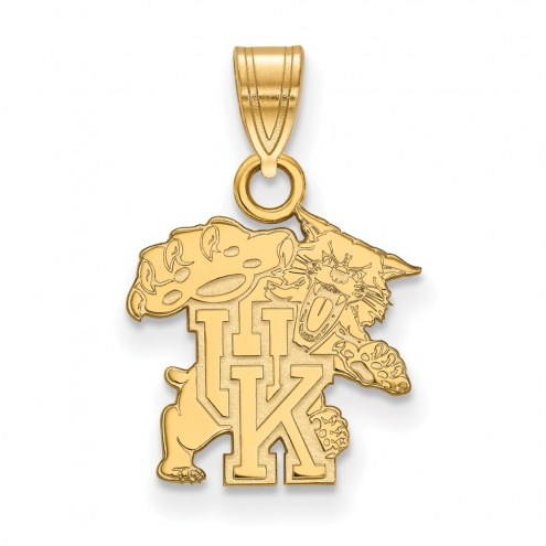 Kentucky Wildcats Sterling Silver Gold Plated Small Pendant