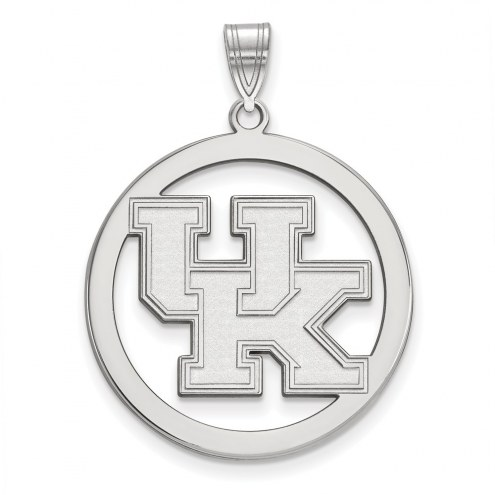 Kentucky Wildcats Sterling Silver Large Circle Pendant