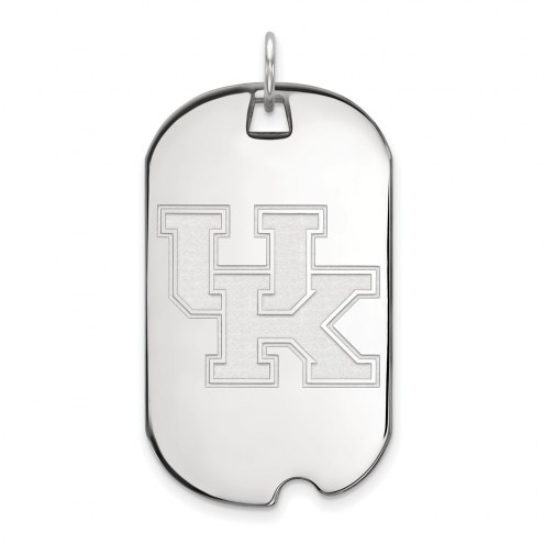 Kentucky Wildcats Sterling Silver Large Dog Tag