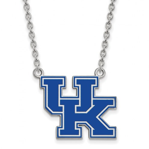 Kentucky Wildcats Sterling Silver Large Enameled Pendant Necklace