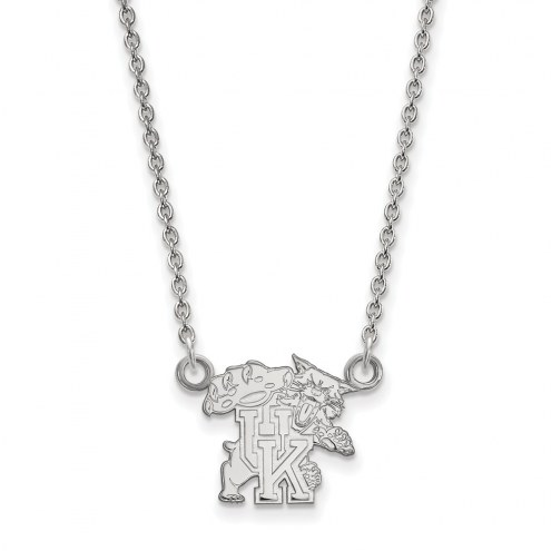 Kentucky Wildcats Sterling Silver Small Pendant Necklace