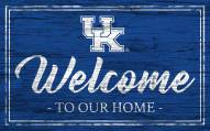 Kentucky Wildcats Team Color Welcome Sign