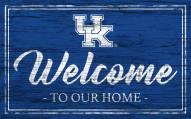 Kentucky Wildcats Team Color Welcome Sign