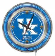 Kentucky Wildcats UK Neon Clock
