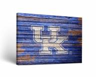 Kentucky Wildcats Weathered Canvas Wall Art