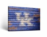 Kentucky Wildcats Weathered Canvas Wall Art