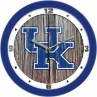 Kentucky Wildcats Weathered Wall Clock