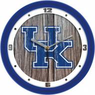 Kentucky Wildcats Weathered Wall Clock