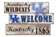 Kentucky Wildcats Welcome 3 Plank Sign