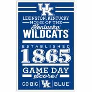 Kentucky Wildcats Established Wood Sign