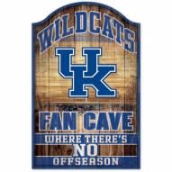 Kentucky Wildcats Fan Cave Wood Sign