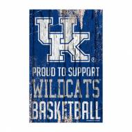 Kentucky Wildcats Proud to Support Wood Sign