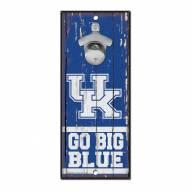 Kentucky Wildcats Wood Bottle Opener
