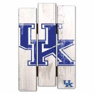 Kentucky Wildcats Wood Fence Sign
