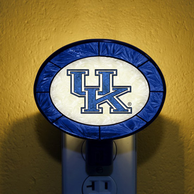 Kentucky Wildcats NCAA Stained Glass Night Light