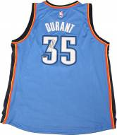 Kevin Durant Blue Thunder Replica Jersey Signed