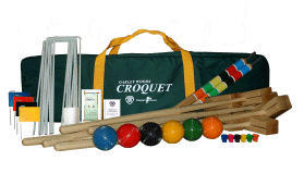 Oakley Woods Kingston Court 4-Player Croquet Set