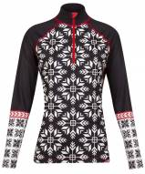 Krimson Klover Women's Nordic Snowflake 1/4 Zip Base Layer Top
