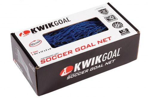 Kwik Goal 6 1/2' x 12' Junior Recreational Soccer Net - 2.4MM Blue