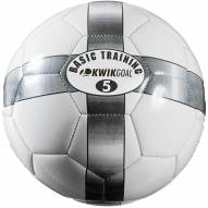 Kwik Goal Basic Training Soccer Ball - White/Silver