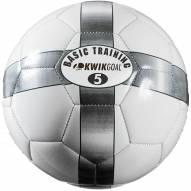 Kwik Goal Basic Training Soccer Ball - White/Silver
