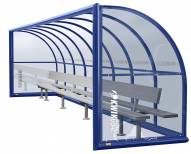 Kwik Goal Portable Elite Shelter with Bench with Back - 30 ft