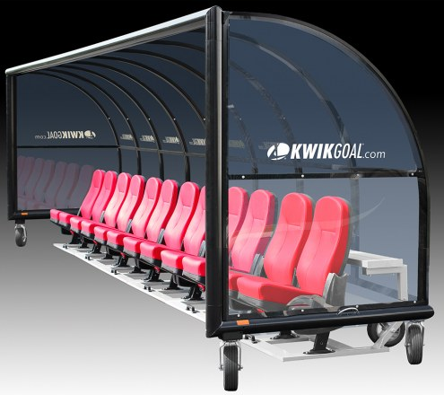 Kwik Goal Semi-Permanent Elite Shelter with Luxury Seats with Wheels - 15 ft