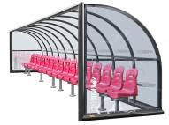 Kwik Goal Portable Elite Shelter with Molded Seats - 30 ft