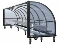 Kwik Goal Portable Only Elite Shelter with Bench and Wheels - 30 ft
