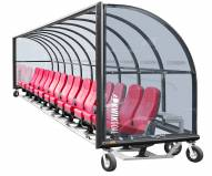 Kwik Goal Portable Only Elite Shelter with Luxury Seats and Wheels - 30 ft