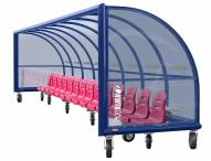 Kwik Goal Portable Only Elite Shelter with Molded Seats and Wheels - 30 ft