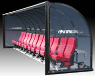 Kwik Goal Semi-Permanent Elite Shelter with Luxury Seats - 9 ft
