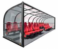 Kwik Goal Two-Row Portable Shelter with Luxury Seats - 24 ft