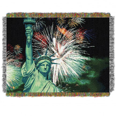 Lady Liberty Throw Blanket