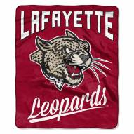 Lafayette Leopards Alumni Raschel Throw Blanket