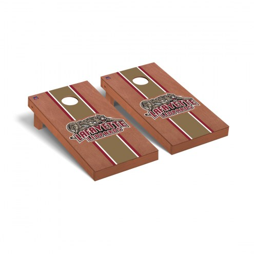 Lafayette Leopards Rosewood Stained Stripe Cornhole Game Set