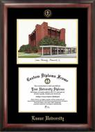 Lamar Cardinals Gold Embossed Diploma Frame with Lithograph
