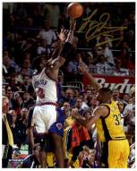 """Larry Johnson Signed """"4-Point Play"""" 8 x 10 Photo (Signed In Gold)"""