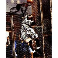 """Larry Johnson Signed """"Grandmama"""" Dunk 11 x 14 Photo (Signed In Silver)"""