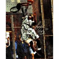 """Larry Johnson Signed """"Grandmama"""" Dunk 8 x 10 Photo (Signed In Silver)"""