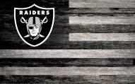"Las Vegas Raiders 11"" x 19"" Distressed Flag Sign"