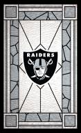 """Las Vegas Raiders 11"""" x 19"""" Stained Glass Sign"""