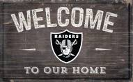 """Las Vegas Raiders 11"""" x 19"""" Welcome to Our Home Sign"""