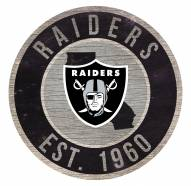 """Las Vegas Raiders 12"""" Circle with State Sign"""