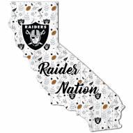 "Las Vegas Raiders 12"" Floral State Sign"