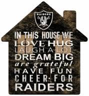 "Las Vegas Raiders 12"" House Sign"