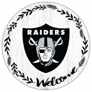 "Las Vegas Raiders 12"" Welcome Circle Sign"